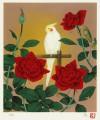 牧 進 「薔薇とインコ」 Susumu Maki