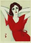 竹久 夢二 「赤い服の女」 Yumeji Takehisa