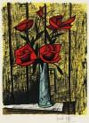 ベルナール・ビュッフェ 「赤いバラ」 Bernard Buffet