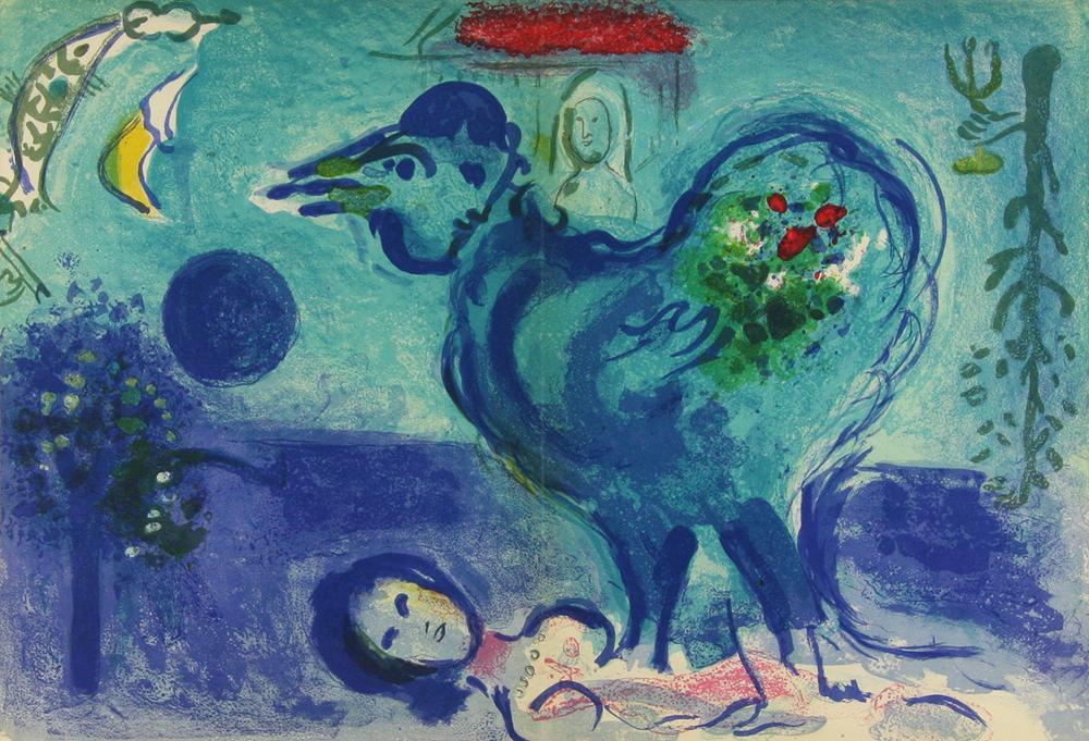 マルク・シャガール 「鶏のいる風景」 Marc Chagall - 創業31年 美術品 ...