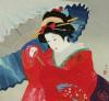 伊東 深水 「春雪」 Shinsui Ito
