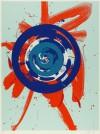 白髪 一雄 「オレンジの中の円」 Kazuo Shiraga