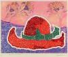 草間 彌生 「野に忘れた帽子」 Yayoi Kusama