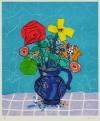 ポール・アイズピリ 「ブルーバックの花束」 Paul Aizpiri