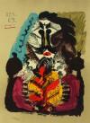 パブロ・ピカソ 「想像の中の肖像 69.4.27」 Pablo Picasso