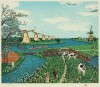 山下 清 「オランダの牧場」 Kiyoshi Yamashita