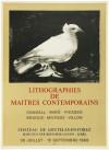 パブロ・ピカソ 「LITHOGRAPHIES DE MAITRES CONTEMPORAINS」 Pablo Picasso