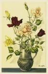 藤田 嗣治 「花瓶の中のバラ」 Leonard Foujita